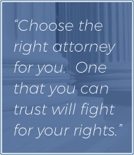 Choose the right attorney for you